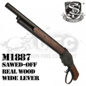 【S&T】ウィンチェスター M1887 ソードオフ ガスショットガン リアルウッド ワイドレバー