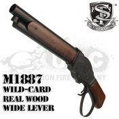 【S&T】ウィンチェスター M1887 ワイルドカード ガスショットガン リアルウッドBlack ワイドレバー