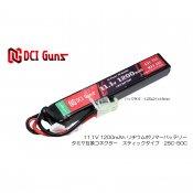 【DCI Guns】11.1V 1,200mAh Lipoバッテリー タミヤ互換コネクター 25C-50C