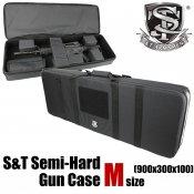 【S&T】セミハードガンケースV2 Mサイズ Black(900x300x100)