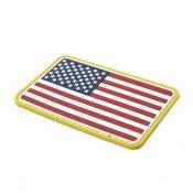 <img class='new_mark_img1' src='https://img.shop-pro.jp/img/new/icons52.gif' style='border:none;display:inline;margin:0px;padding:0px;width:auto;' />【TMC】PVC素材USA Flag 星条旗 アメリカ国旗 パッチ フルカラー