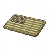 <img class='new_mark_img1' src='https://img.shop-pro.jp/img/new/icons52.gif' style='border:none;display:inline;margin:0px;padding:0px;width:auto;' />【TMC】PVC素材USA Flag 星条旗 アメリカ国旗 パッチ デザートカラー