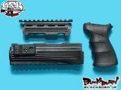 【G&P】AK47 グリップ&ハンドガードセット BK