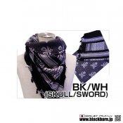 【LayLax/ライラクス】シュマグ BK/WH(SKULL/SWORD)