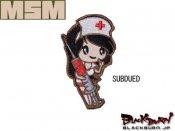 【MILL SPEC MONKEY】Nurse Girl 刺繍(SUBDUED/ARID/ACU/GOTHY/BLUE)