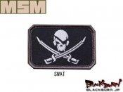 【MILL SPEC MONKEY】Pirate Skull Flag 刺繍(SWAT/ACU-LIGHT/ACU-DARK/FOREST/MC/DE)