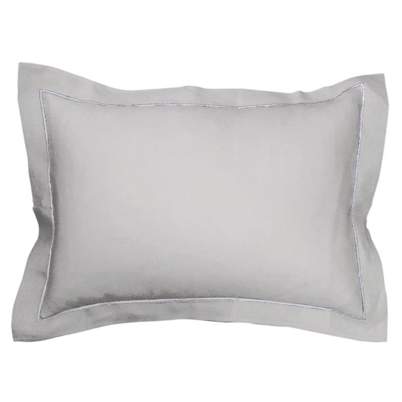 Pleats Pillowcase - Ice Gray