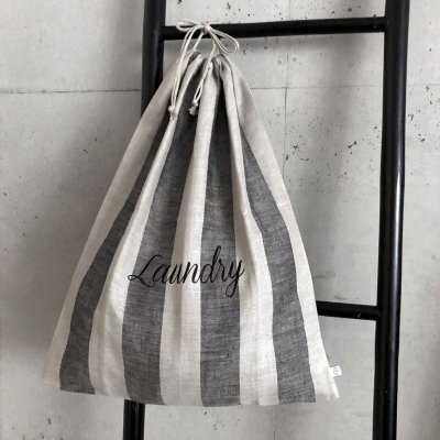 Limoges  Laundry Bag - Natural x Black
