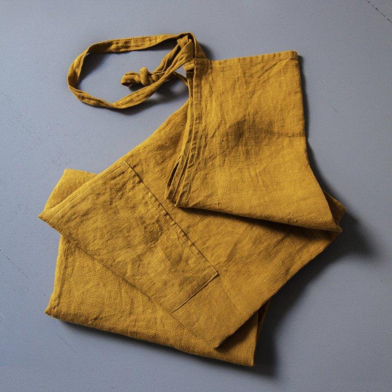 Cannes Apron mustard