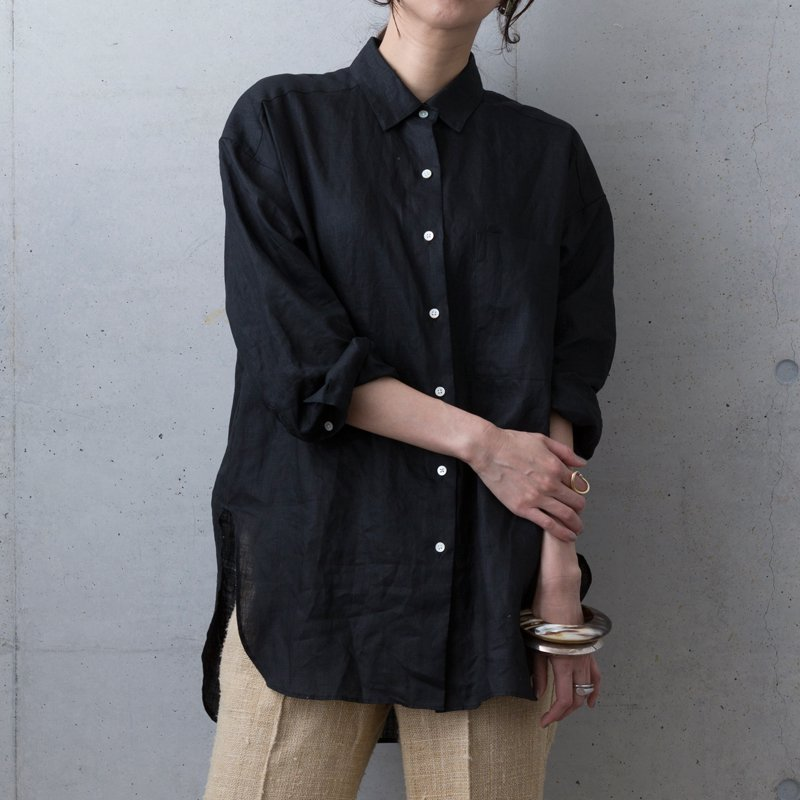 2020 Luce Linen shirt black