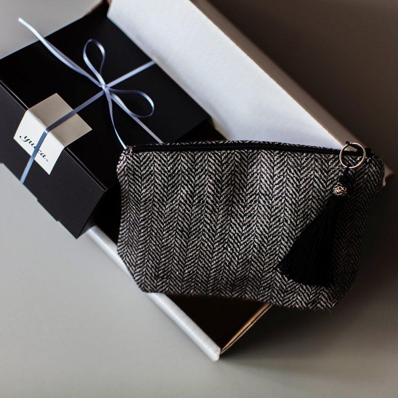 2020父の日の贈り物 yucca x リネンポーチS/ブラック