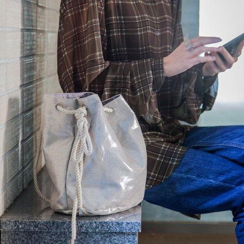 Ava Drawstring Bag - Natural