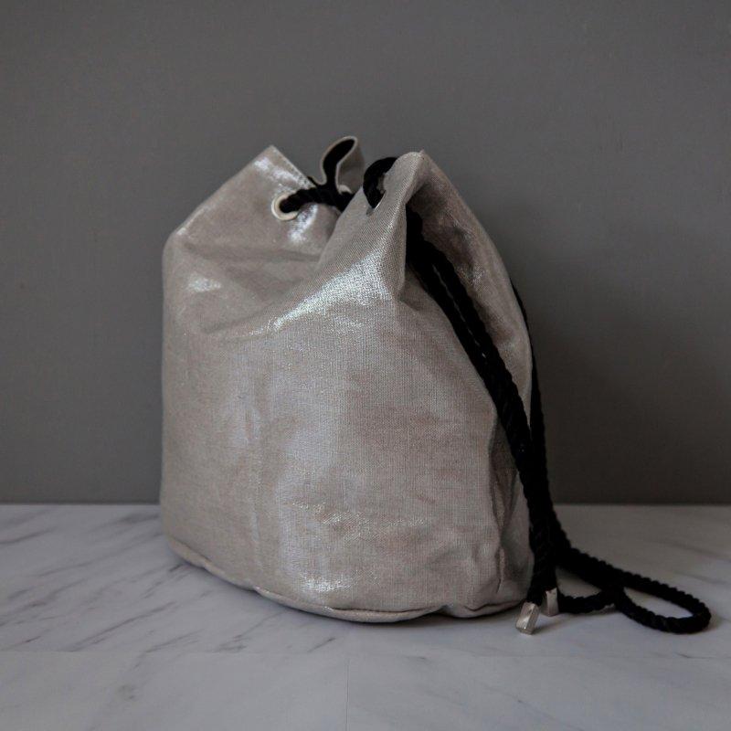 Ava Drawstring Bag - Black