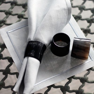 Santorini Cafe Mat - white