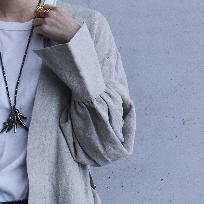 Mila Linen Coat - Natural