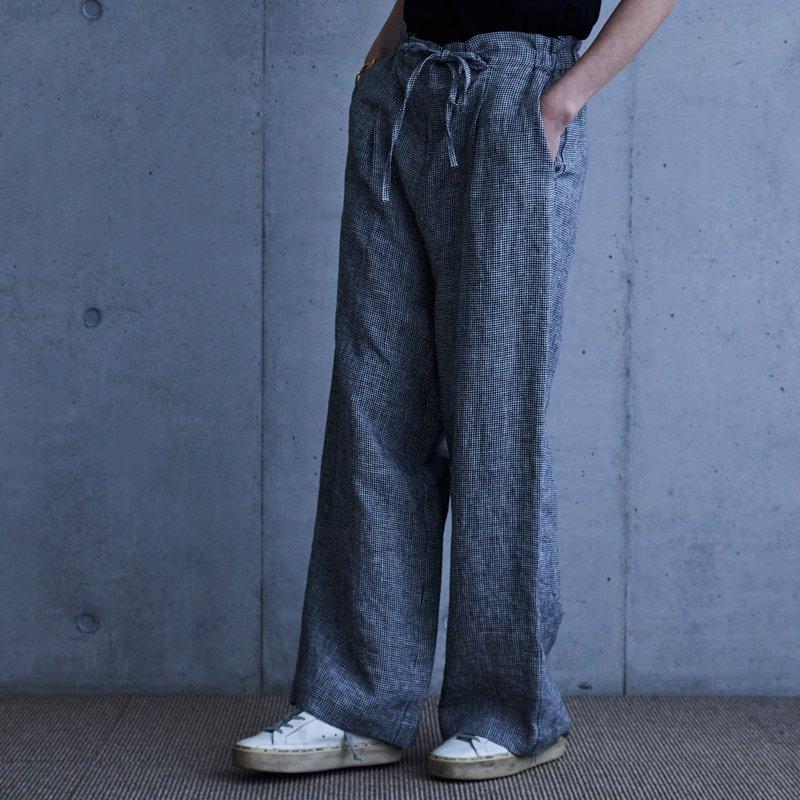 Mila Linen Pants - 千鳥格子