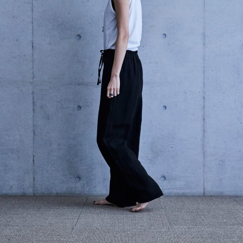 Mila Linen Pants - Black