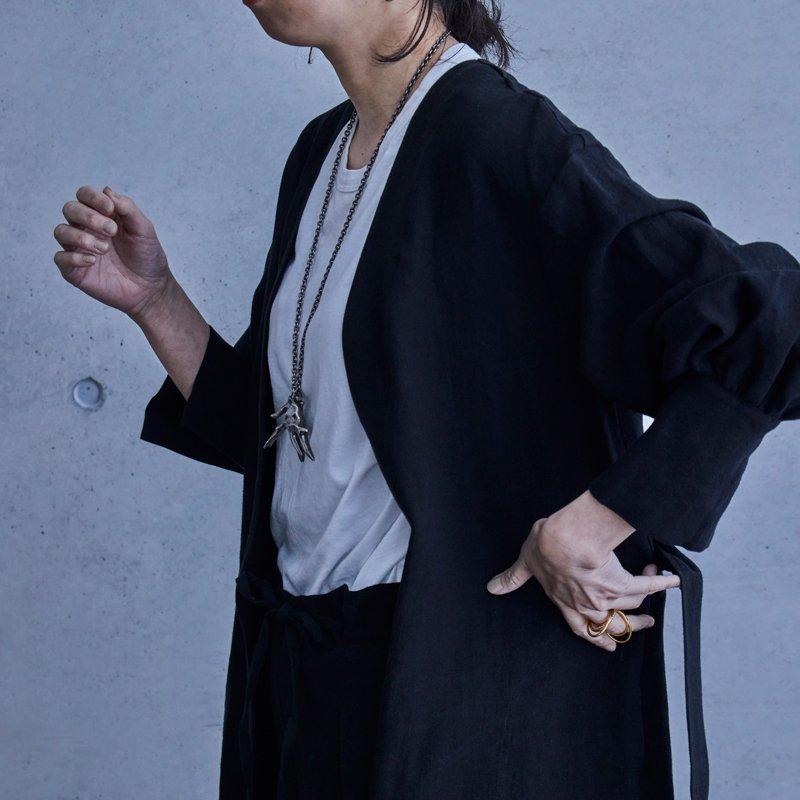 Mila Linen Coat - Black