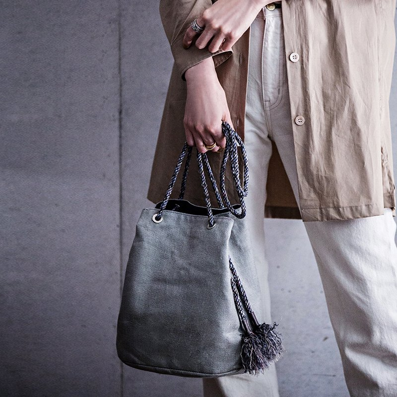 Siena Drawstring Bag - gray