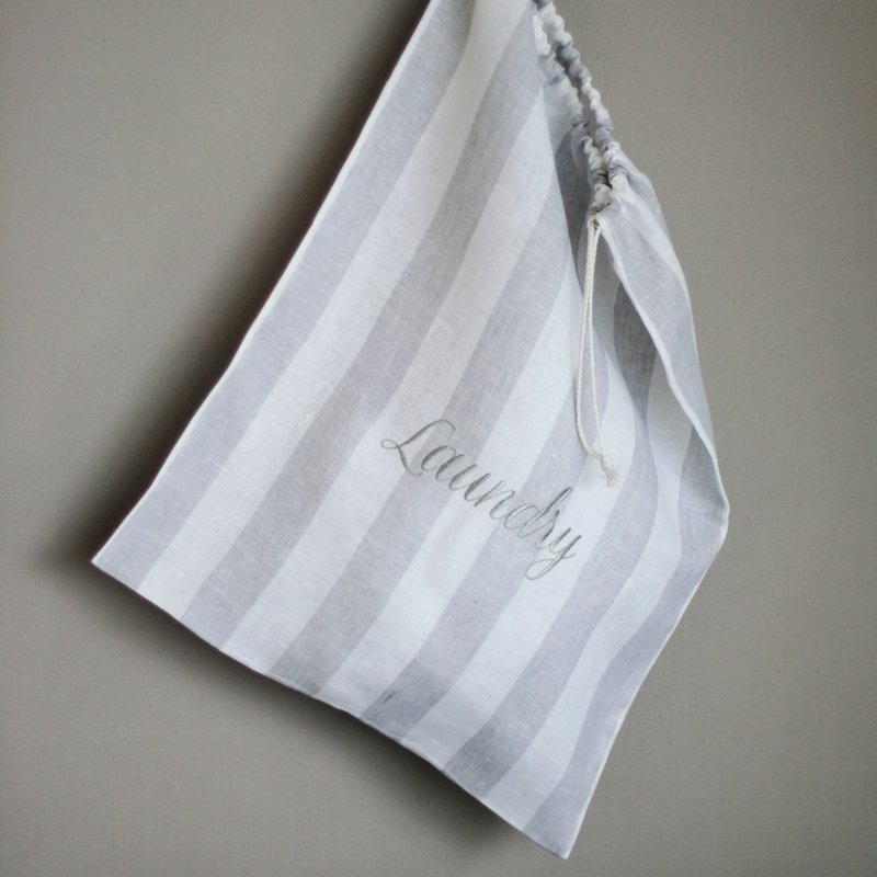 Limoges Laundry Bag - WhitexIce Gray