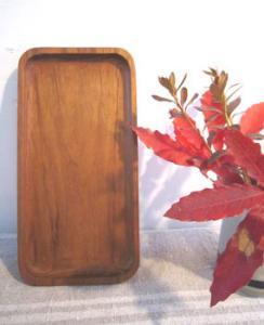 長方形の木のトレー