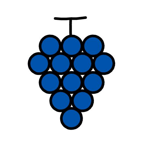 ぶどう-巨峰/耐水シール