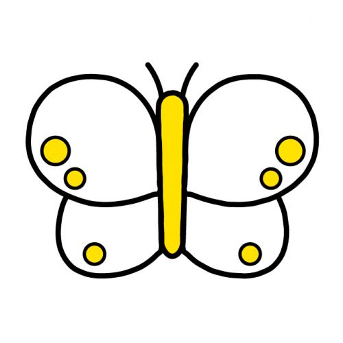 ちょうちょ-カラフル/布用シール