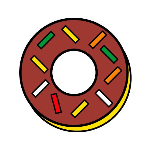ドーナツ/光沢シール