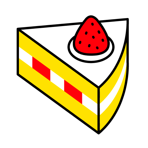 ショートケーキ/耐水シールセット(S・M・L・円)