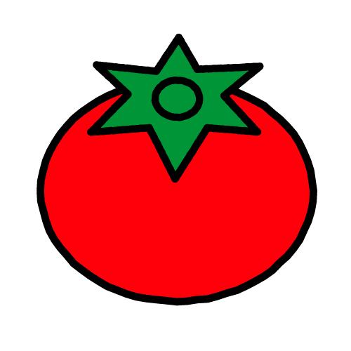 トマト/耐水シール/名前なし
