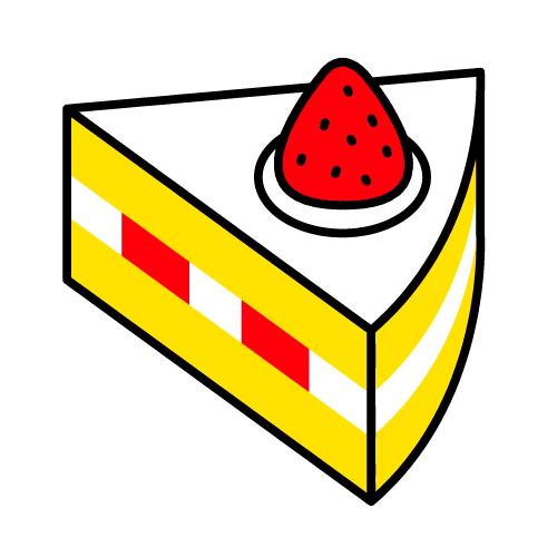 ショートケーキ/耐水シール/名前なし