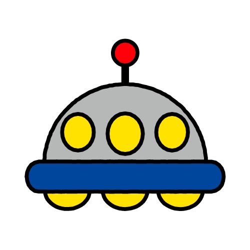 UFO/耐水シール/名前なし