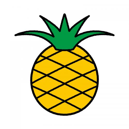 パイナップル/耐水シール/名前なし