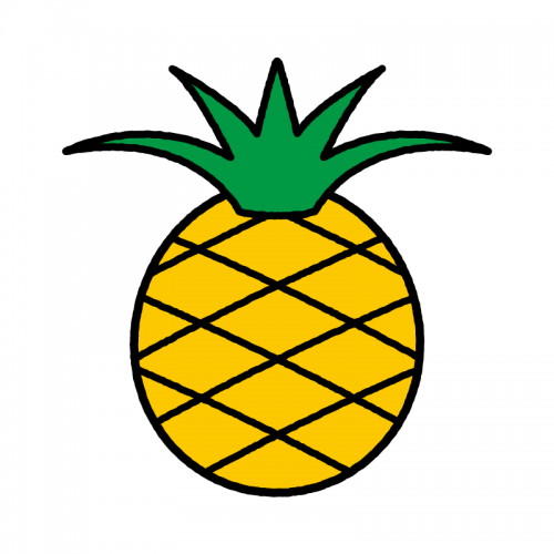 パイナップル/保護フィルム付き防水シール