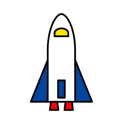 スペースシャトル/布用シール/名前なし