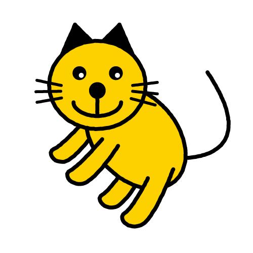 キャットちゃん(ねこ)/光沢シール