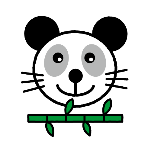 パンダ/光沢シール