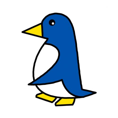 ペンギン/光沢シール
