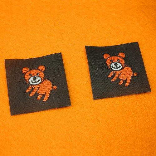 平織り刺繍タグ(2枚入り)