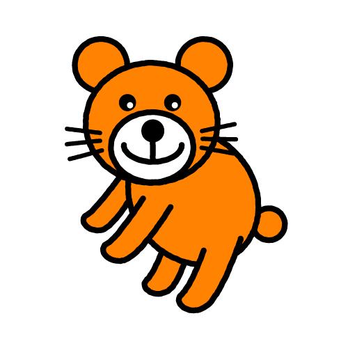 ハルカナリちゃん(くま)/耐水シールセット(S・M・L・円)