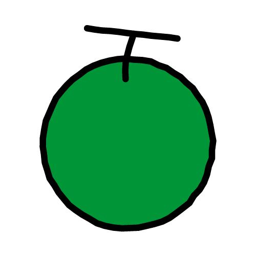 メロン/耐水シールセット(S・M・L・円)