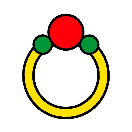ゆびわ/耐水シールセット(S・M・L・円)