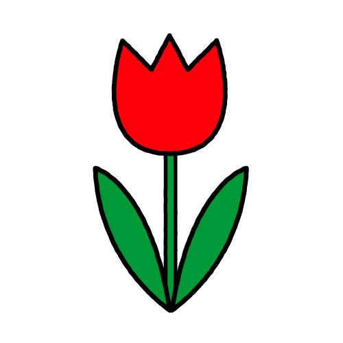 チューリップ/耐水シールセット(S・M・L・円)
