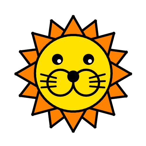 ライオン/耐水シールセット(S・M・L・円)