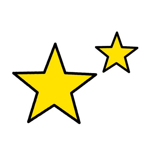 ほし/耐水シールセット(S・M・L・円)