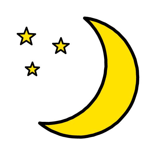 つき/耐水シールセット(S・M・L・円)