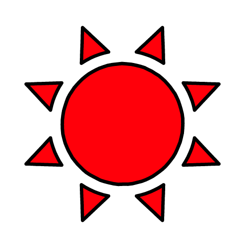 たいよう/耐水シールセット(S・M・L・円)