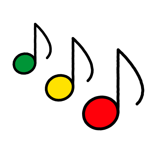 おんぷ/耐水シールセット(S・M・L・円)