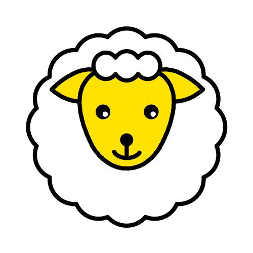 ひつじ/布用シールセット(S・M・L・LL・円)