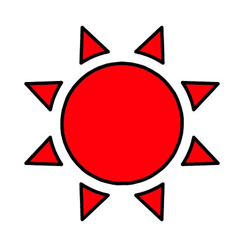 たいよう/布用シールセット(S・M・L・LL・円)